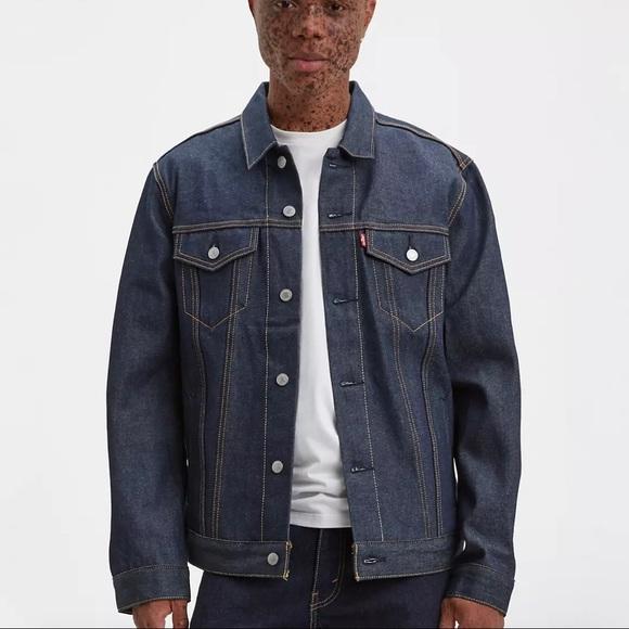 NWT Levi's raw denim trucker jacket XS